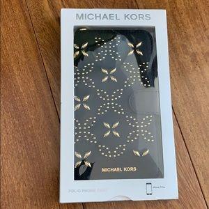 New Michael Kors iPhone 7 Plus Black folio case